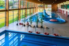 游泳池健康疗养院 德鲁斯基宁凯,立陶宛 免版税图库摄影