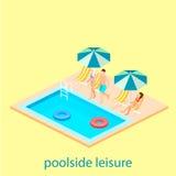 游泳池创造性的现代等量设计  库存图片
