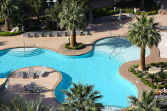 游泳池在拉斯维加斯,内华达 免版税库存照片