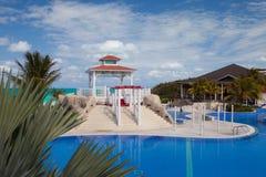 游泳池在旅馆Gaviota Cayo圣玛丽亚里 古巴 库存图片