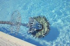 游泳池擦净剂机器人 免版税图库摄影