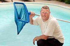 游泳池擦净剂 免版税库存图片