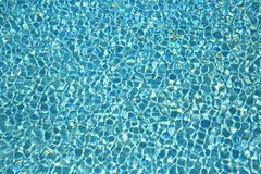 游泳池水波纹 库存图片