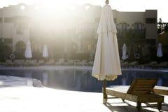 游泳池边 图库摄影