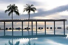 游泳池,华欣,泰国 库存图片