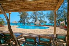 游泳池,手段,假期,桑给巴尔 图库摄影