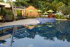 游泳池,泰国 免版税库存图片