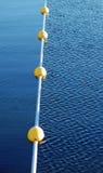 游泳浮体线路 免版税库存照片