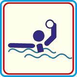 游泳演奏下载的水球标志 传染媒介象和印刷品项目 图库摄影