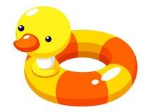 游泳环形鸭子 库存照片