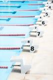 游泳的立场 库存照片
