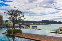 游泳的粗劣的萨尼亚风景 免版税库存图片