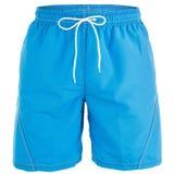 游泳的蓝色人短裤 免版税库存图片