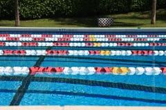 游泳竞争池 库存照片