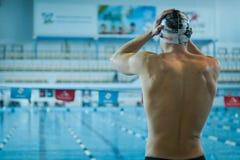 游泳者参加竞争 库存照片