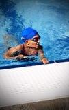 游泳者女孩 库存图片