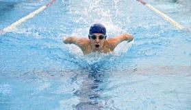 游泳者少年 免版税图库摄影