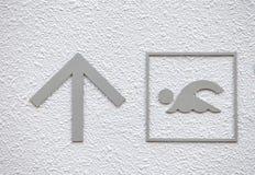 游泳者标志 免版税库存照片