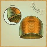 游泳者的衣裳 板刻样式7 向量例证
