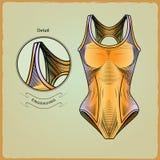 游泳者的衣裳 板刻样式10 皇族释放例证