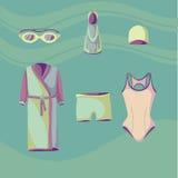 游泳者的4衣裳 向量例证