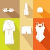 游泳者的5衣裳 库存例证