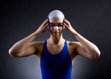 游泳者的画象 库存照片