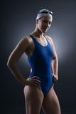 游泳者的画象 免版税图库摄影