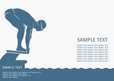 游泳者背景 免版税图库摄影