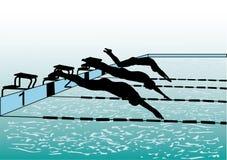 游泳者 免版税图库摄影
