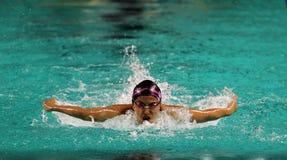 游泳者Erika Kong 图库摄影