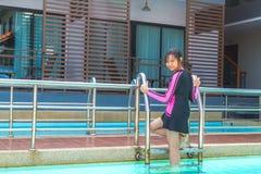 游泳衣在放松时间 免版税图库摄影