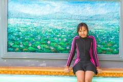 游泳衣在放松时间 图库摄影