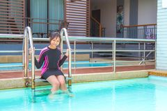 游泳衣在放松时间 库存照片
