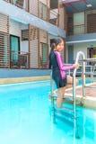 游泳衣在放松时间 免版税库存照片