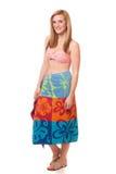 游泳衣的妇女 免版税库存照片