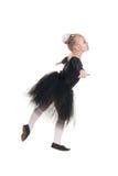 黑游泳衣训练的芭蕾舞女演员 免版税库存图片