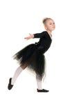 黑游泳衣训练的芭蕾舞女演员 库存照片