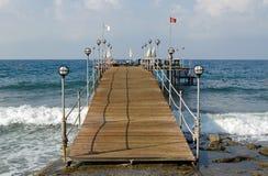 游泳跳船,安塔利亚 免版税库存图片