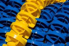 游泳通路标志 免版税库存图片