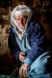 游牧人人居住在洞的,游牧人谷,阿特拉斯山脉,摩洛哥 库存照片