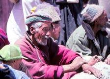 游牧人在拉达克,印度 免版税图库摄影