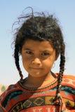 游牧人孩子在埃及 免版税库存照片