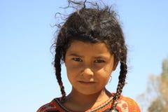 游牧人孩子在埃及 免版税库存图片