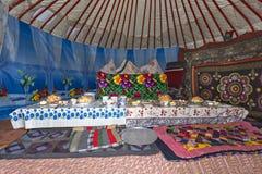 游牧帐篷,哈萨克斯坦 免版税库存图片