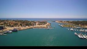 游舫港口的天线在巴哈墨西哥 股票视频