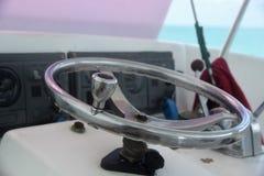 游船方向盘在伯利兹 免版税图库摄影