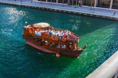 游艇俱乐部在迪拜小游艇船坞。阿拉伯联合酋长国.2012年11月16日 免版税图库摄影