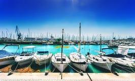 游艇俱乐部La Lonja小游艇船坞宪章- 2017年9月11日,帕尔马 免版税库存图片