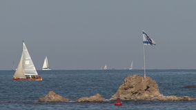 游艇停泊处以色列 股票视频
